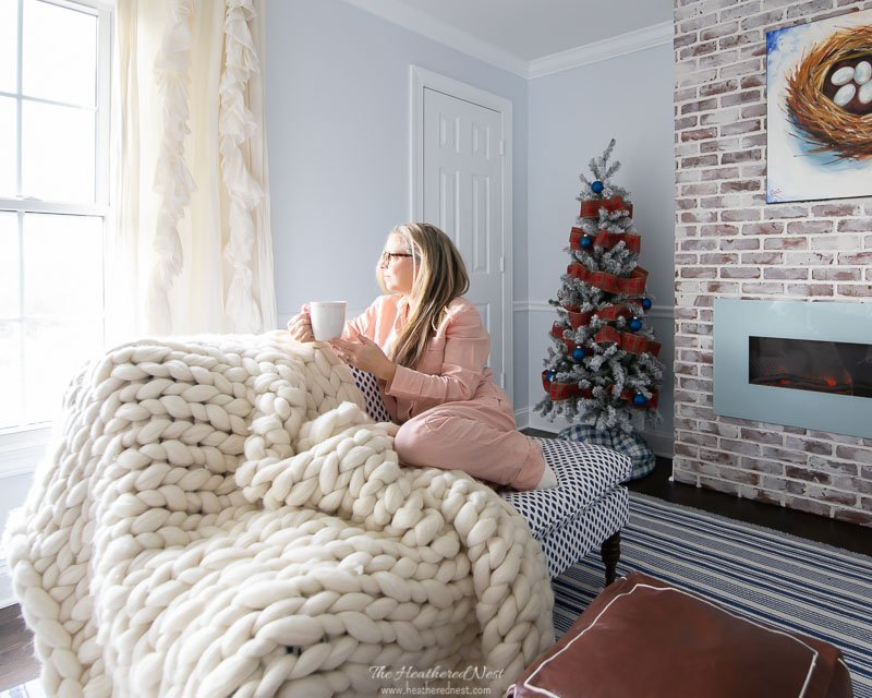 9 tips for winter hygge decor   Pictured: Henley Wool Throw Serena & Lily