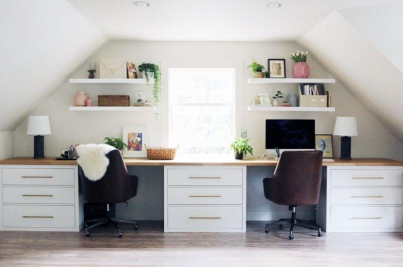 Hemnes long desk hack