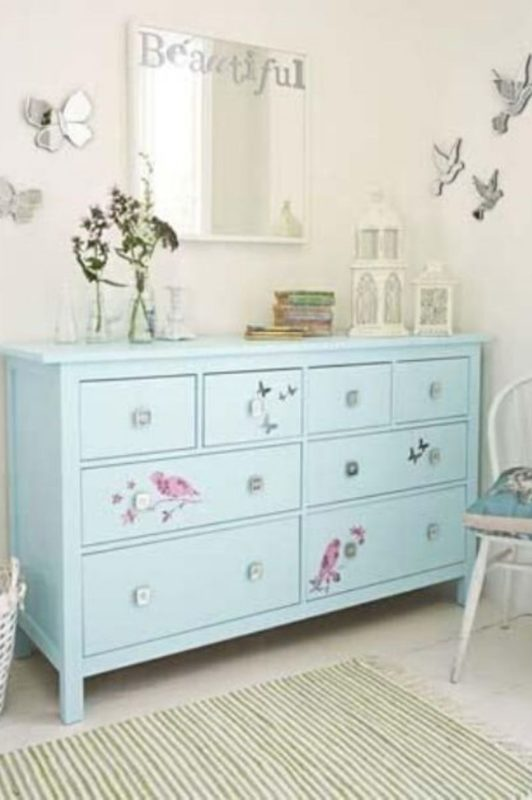 Hemnes dresser hack with decals