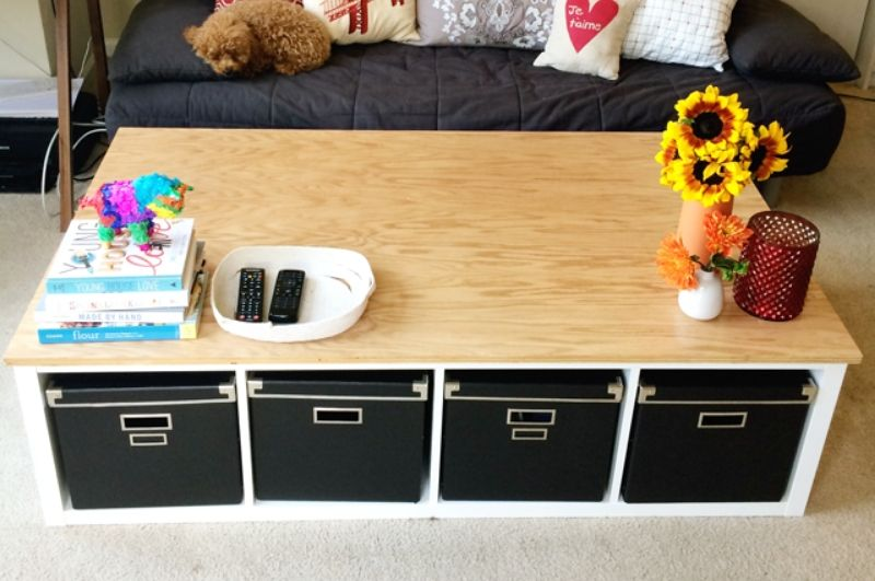 Kallax coffee table hack