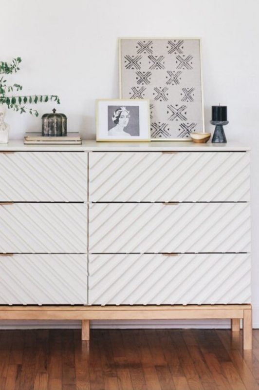 wood slats on Hemnes dresser hack