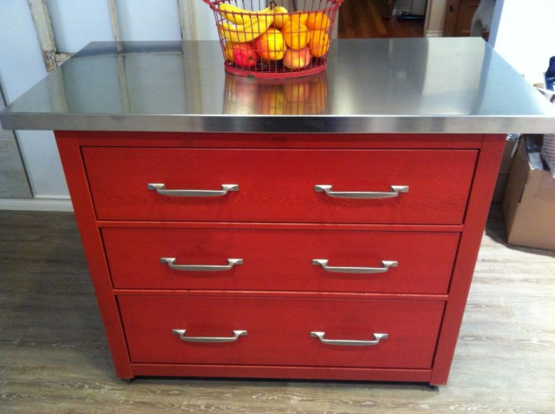 Hemnes dresser kitchen island hack