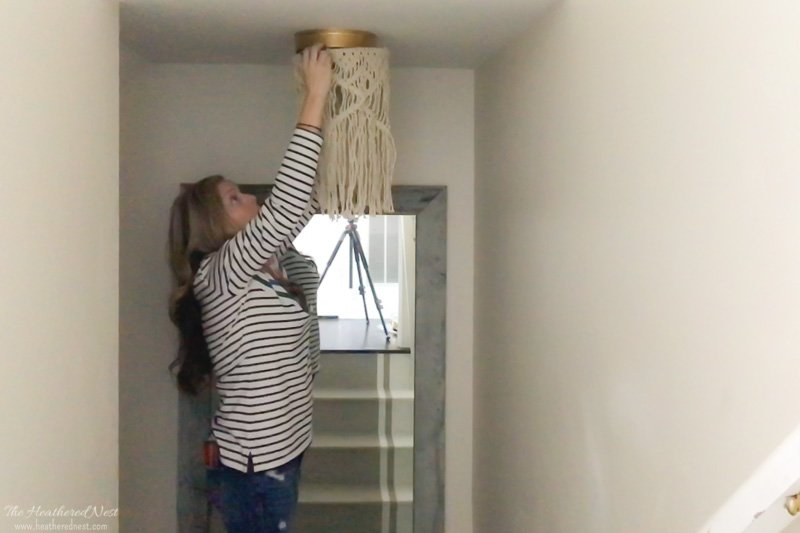 Boob Light Busting: Macrame Boho Lighting Hack