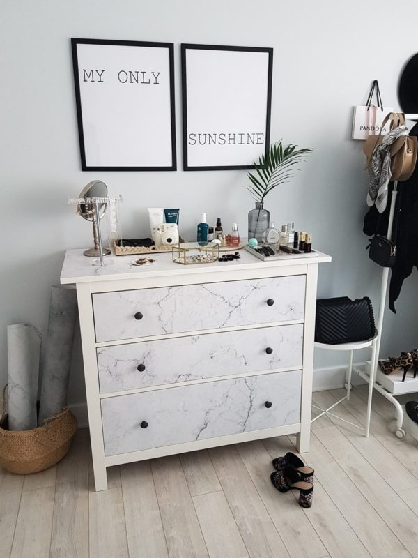 contact paper Hemnes dresser hack
