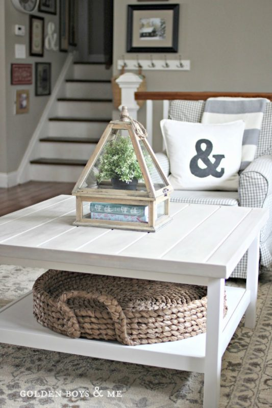 White coffee table Hemnes hack