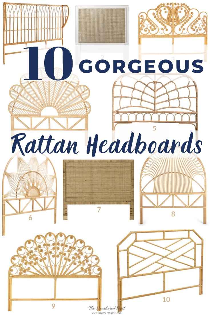 10 Gorgeous Rattan Headboards You Can Buy + 25 Beautiful Real Bedrooms That Use Them!