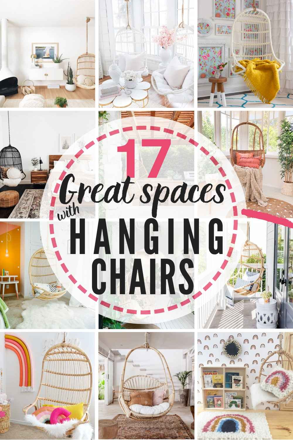 11 Gorgeous Hanging Chairs You Can Buy + 17 Real Life Spaces That Use Them!
