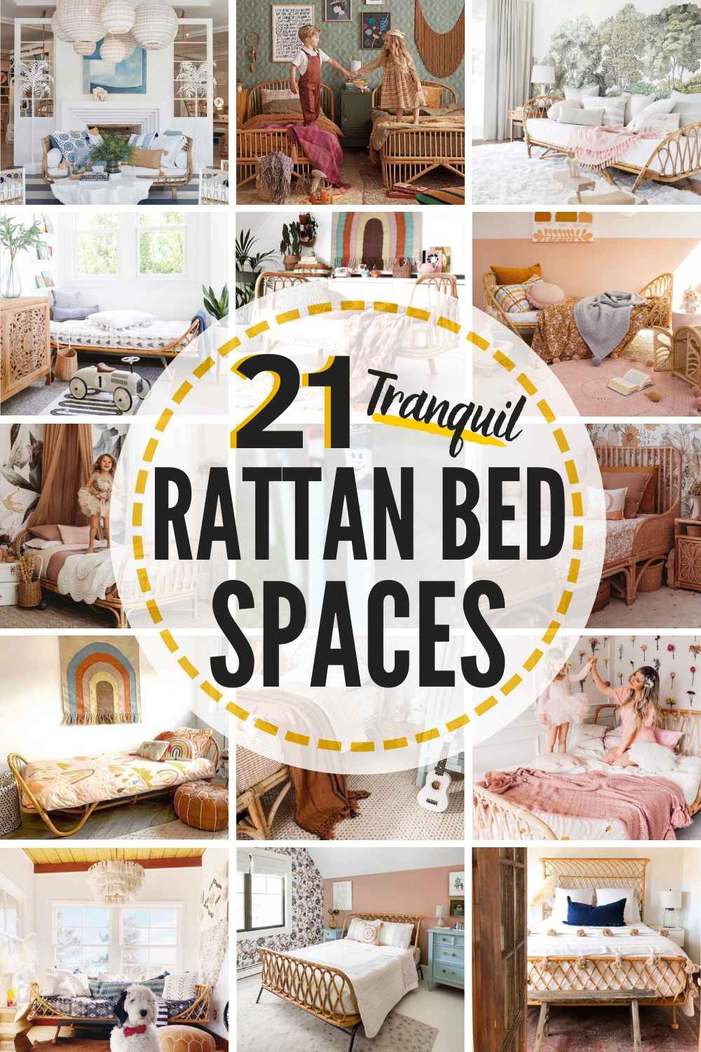 21 Tranquil Rattan Bed Spaces + 8 Stunning Rattan Beds and Rattan Daybeds You Can Buy Online