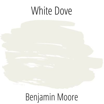 White Dove Swatch - A Popular Paint Shade from Benjamin Moore. An exploration of color.
