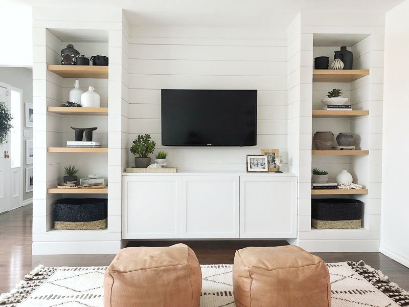 shiplap Besta entertainment center hack