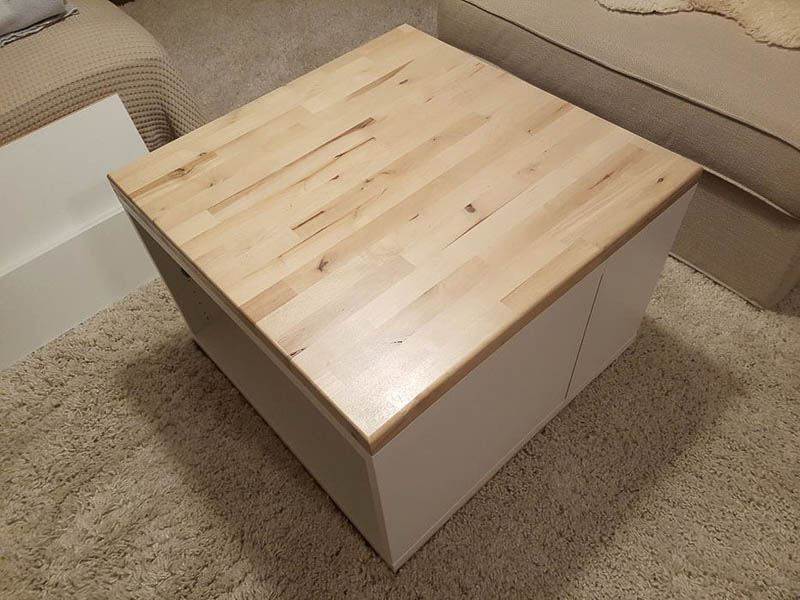 coffee table besta hack