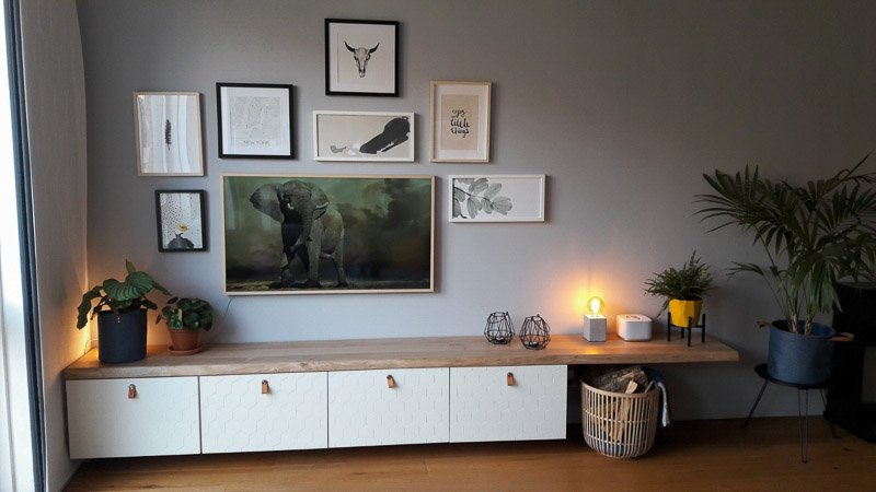 honeycomb pattern tv stand Ikea besta hack
