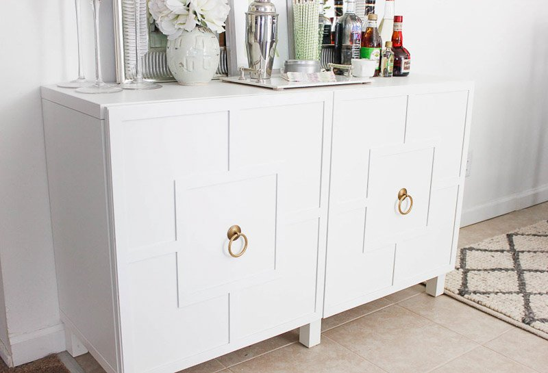 beautiful media cabinet with doors ikea hack