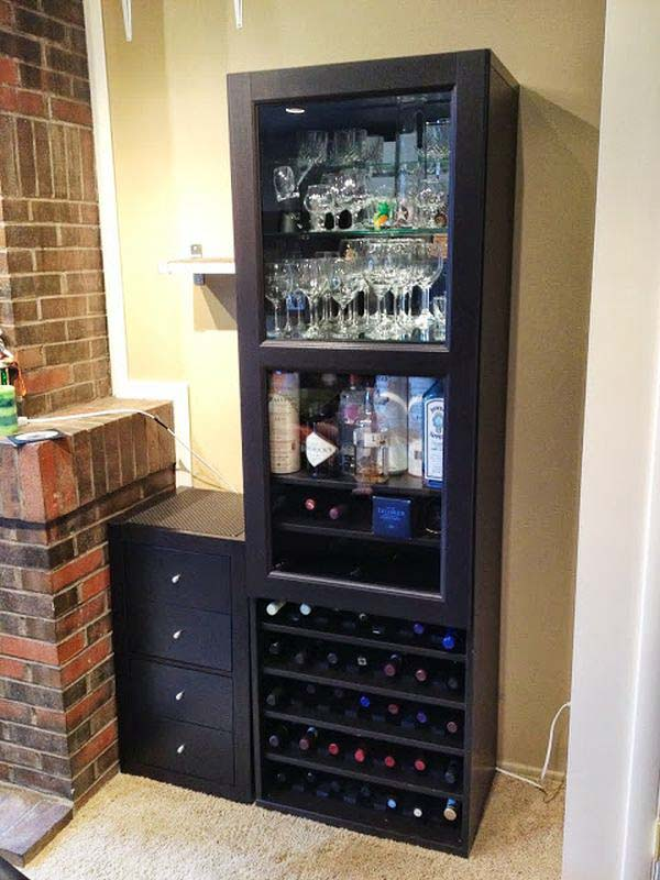 wine rack Ikea Hack