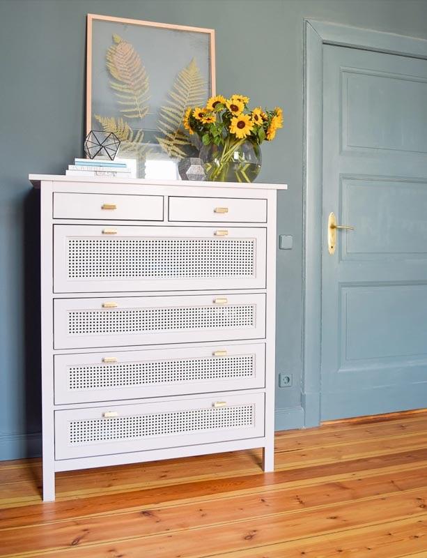 Ikea hemnes dresser with cane webbing panels