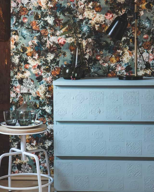 boho painted plaster malm dresser hack