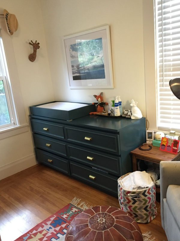 changing table malm dresser hack