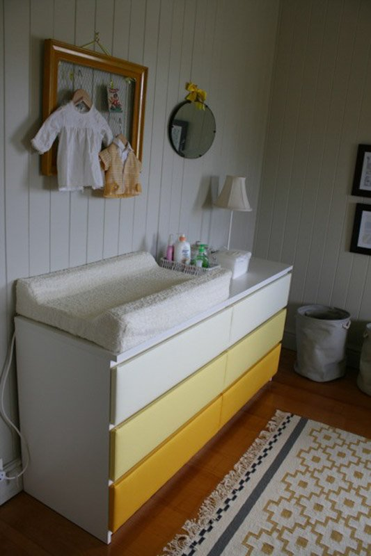 yellow ombre malm dresser hack