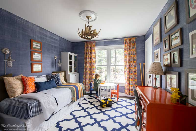 its a colorful life spring home tour 2020 - boys bedroom