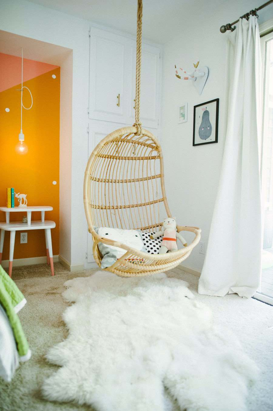 tyle me pretty hanging chair in girls bedroom