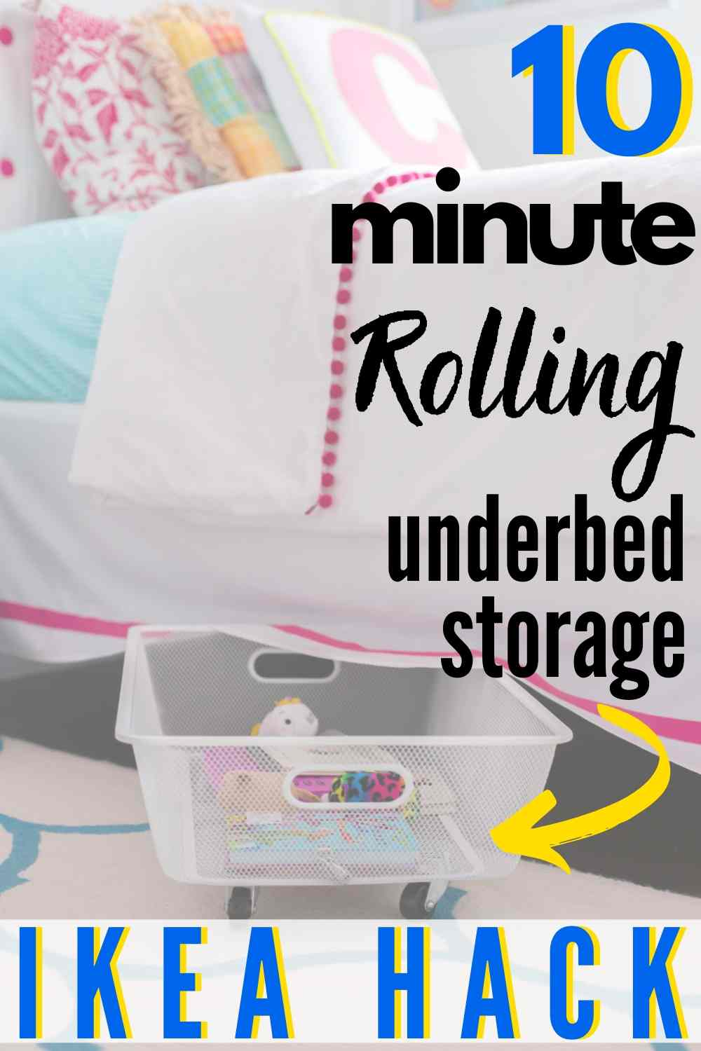 Easy DIY Under Bed Rolling Storage IKEA hack