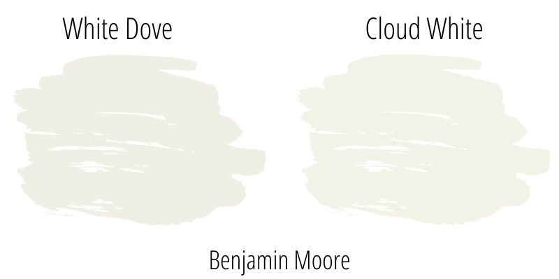 Comparison of Benjamin Moore White Dove and Cloud White