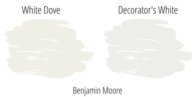Benjamin Moore White Dove versus Decorator's White