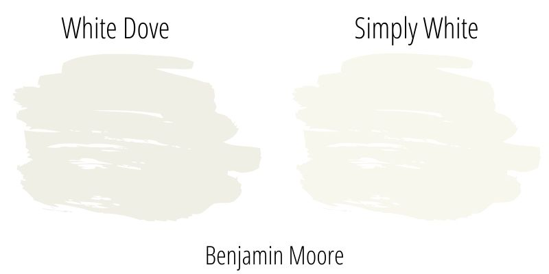 Benjamin Moore White Dove versus Simply White