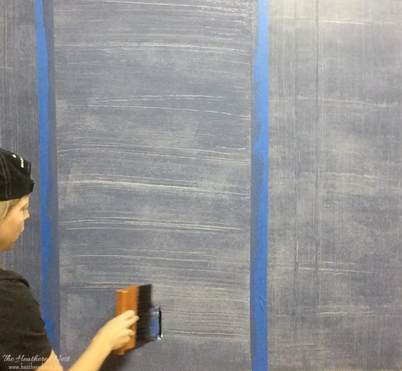 DIY Denim Paint Faux Finish Technique