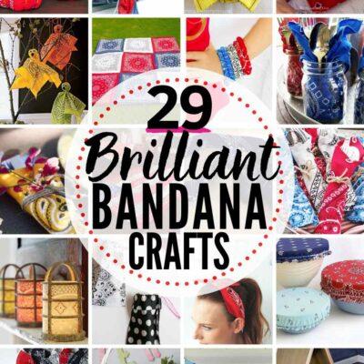 29 BRILLIANT Bandana Crafts & Decorating Projects!