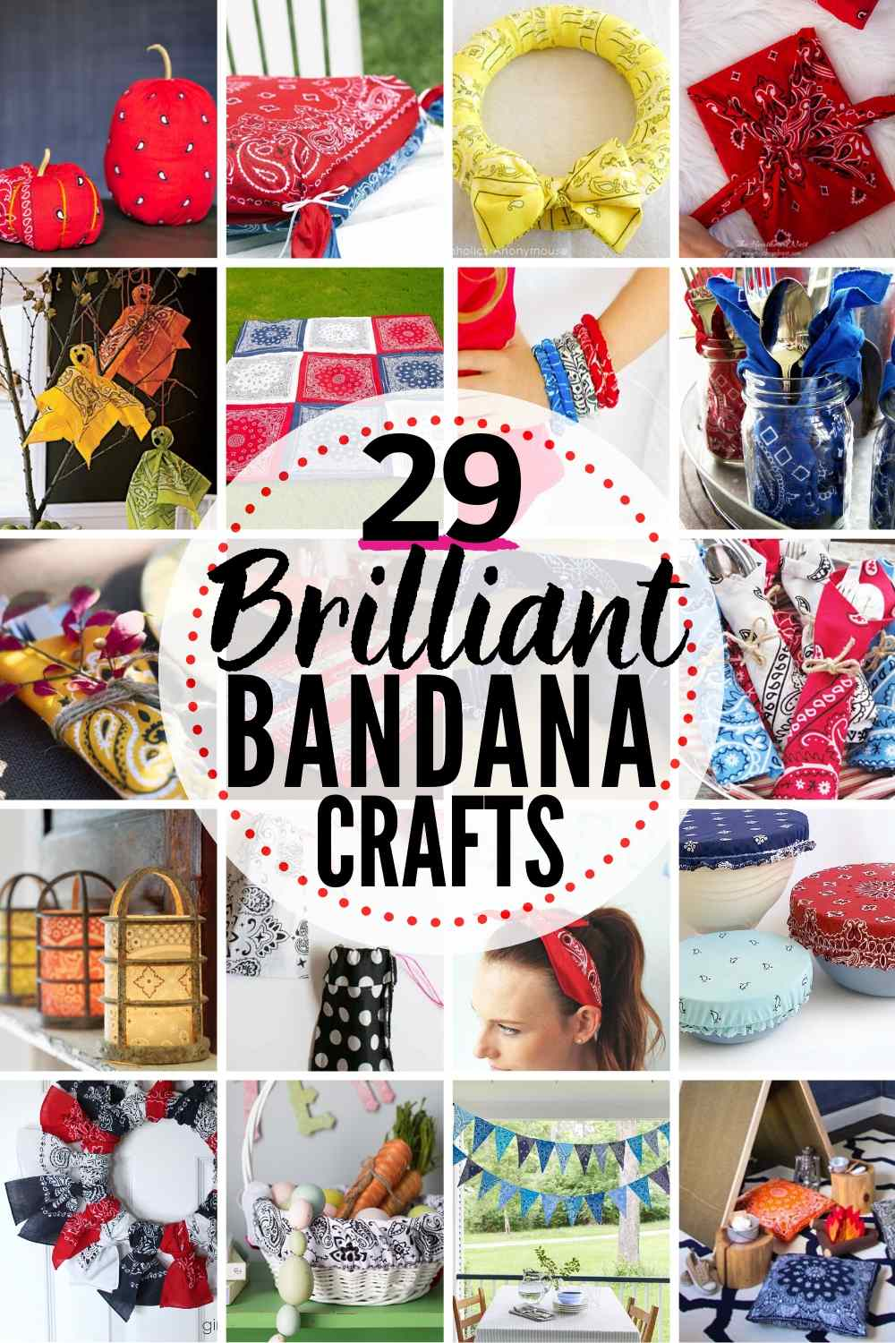 29 BRILLIANT Bandana Crafts & Decorating Projects!