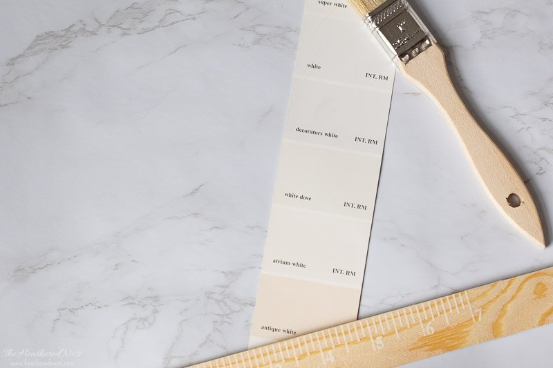 Exploring Benjamin Moore White Dove - Paint Swatch Image
