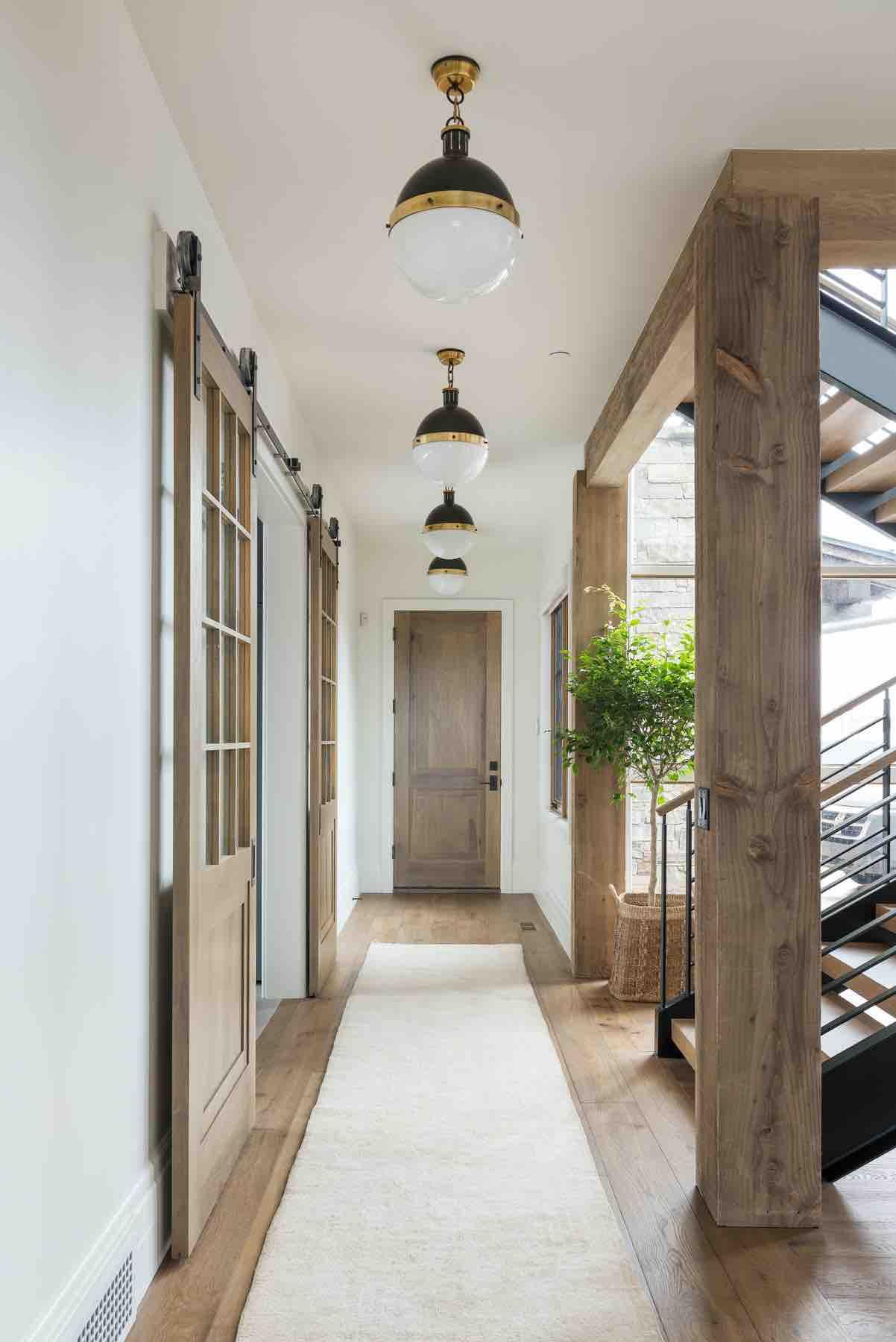 Benjamin Moore White Dove - Studio McGee Hallway