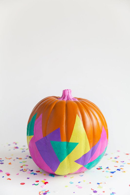 40+ NO CARVE Pumpkin Ideas You'll Want to Try This Fall!! Tell Love and Party 90's Tissue Paper Pumpkin