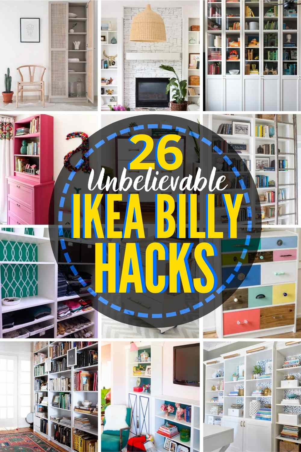 26 GENIUS Billy Bookcase Hack Ideas You'll Want To Try Now!