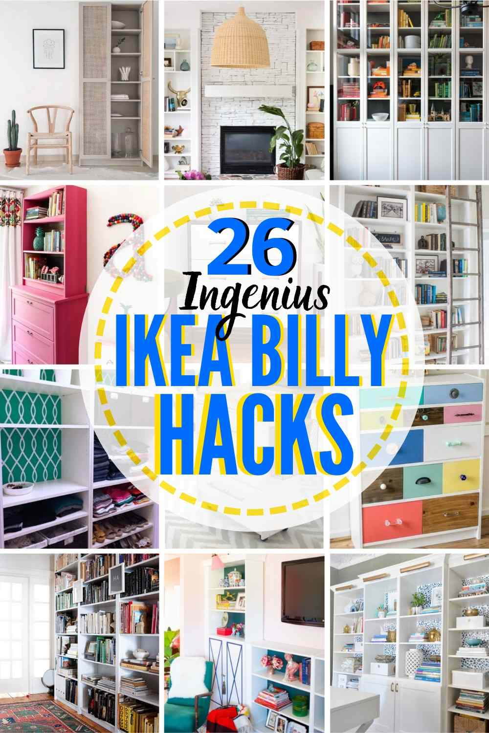 26 GENIUS IKEA Billy Bookcase Hack Ideas You'll Want To Try Now!