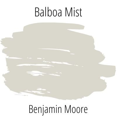 swatch benjamin moore balboa mist on white background