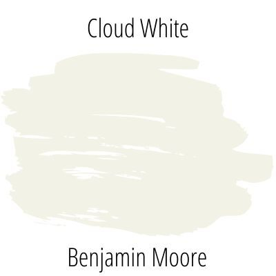 Cloud white paint swatch