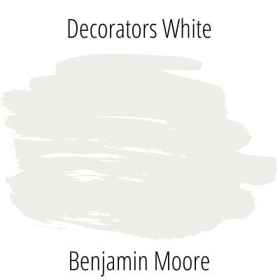 Paint swatch of decorator's white by benjamin moore