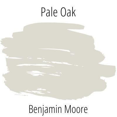 Benjamin Moore Pale Oak Paint Swatch