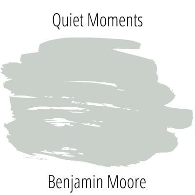 Swatch of benjamin moore quiet moments on a white background