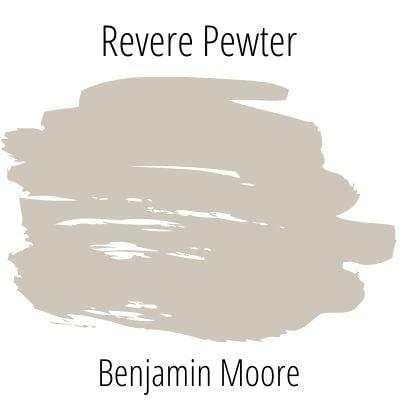Benjamin Moore Revere Pewter color swatch