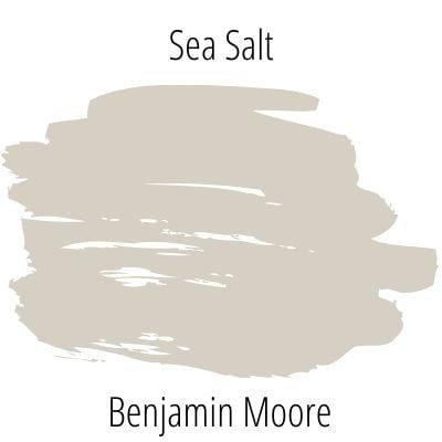 Swatch of Benjamin Moore Sea Salt paint