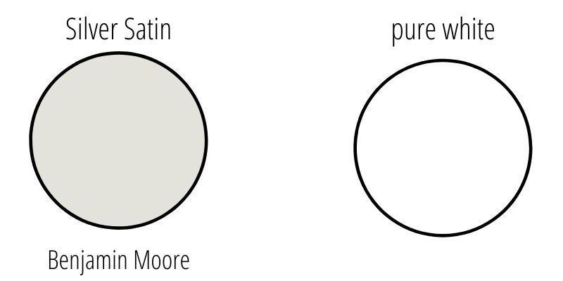 Benjamin Moore Silver Satin vs Pure White