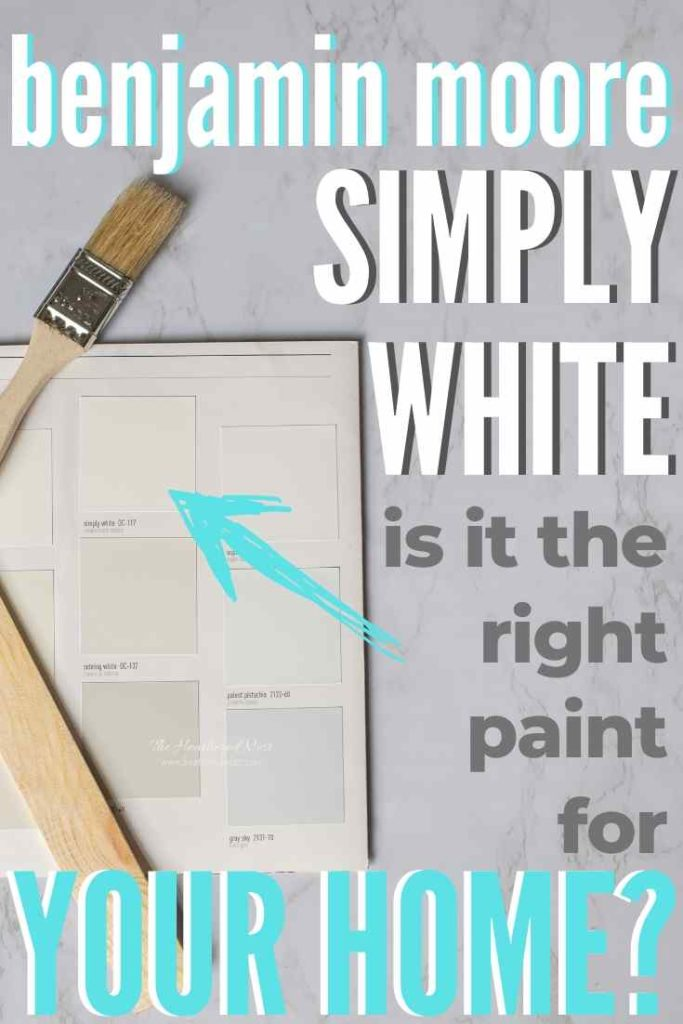 Benjamin Moore Simply White paint chip compared to other warm whites