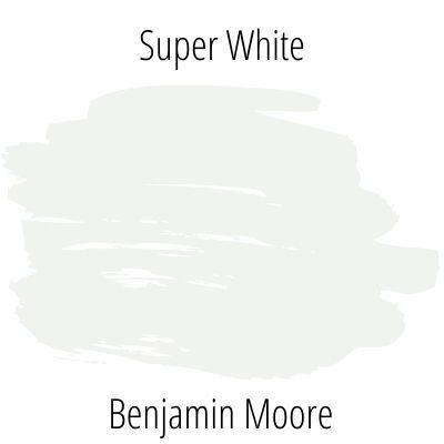 Paint swatch super white from benjamin moore