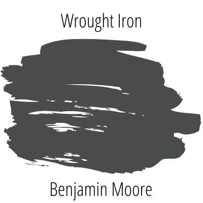 Paint swatch of Benjamin Moore Wrought Iron