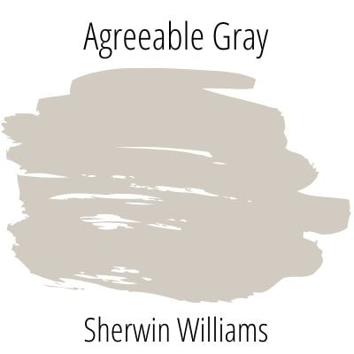 Paint Swatch Sherwin Williams Agreeable Gray