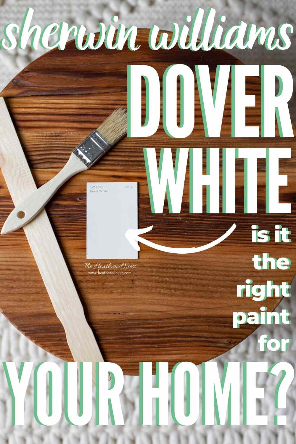 Sherwin Williams Dover White pin image
