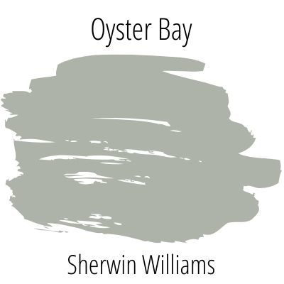 swatch of oyster bay by sherwin willliams